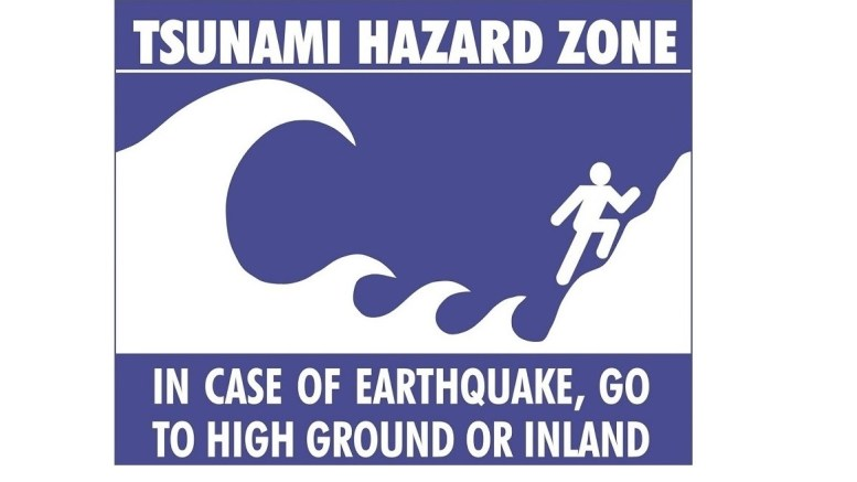 Oregon Tsunami Zone warning sign